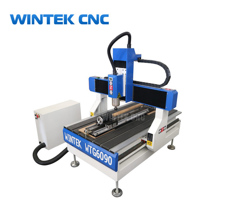 Hobby 4 axis 6090 cnc router with rotary for sale with cheap price