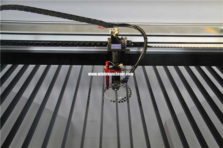 laser head of WTJ1390 CNC Co2 laser engraving cutting machine for wood,leather,acrylic,mdf,fabric