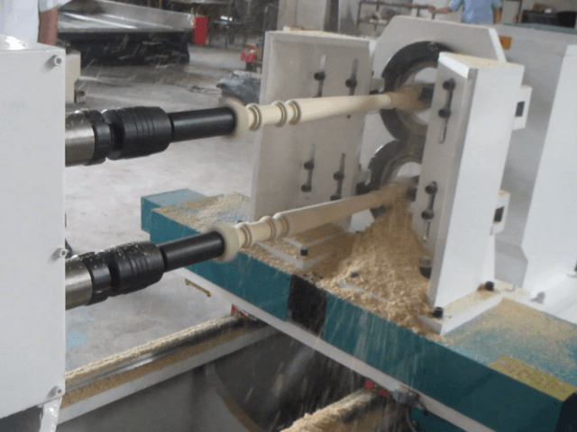 Double axis CNC Wood Lathe Machine for turning wood