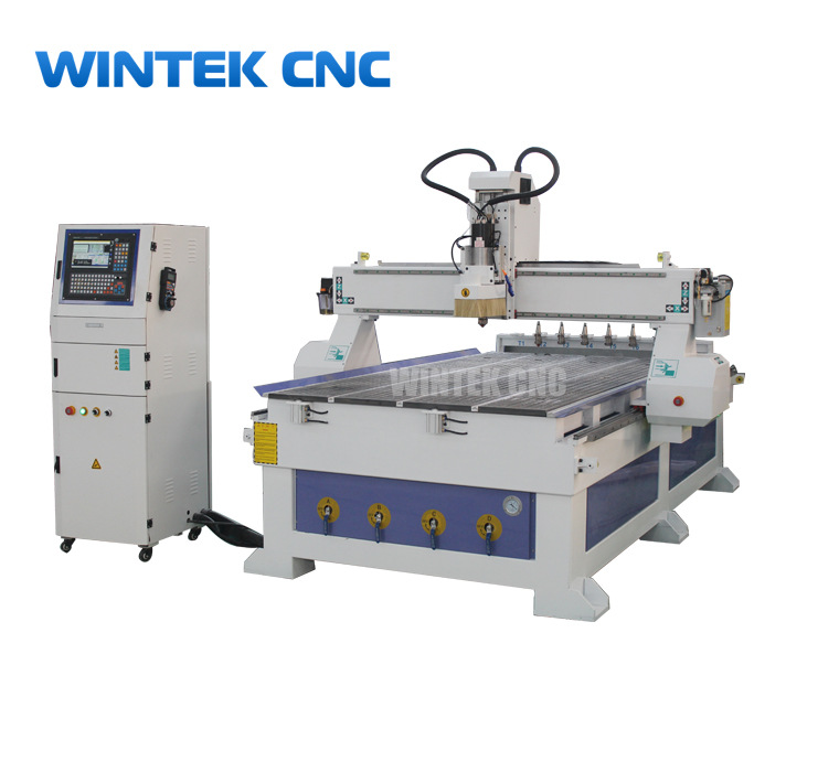 Automatic tool changer cnc router with linear tool magazine- WINTEK CNC