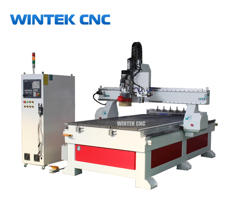 Linear ATC automatic tool changer cnc router with side driling