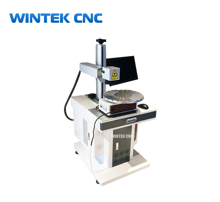 Pen laser engraving marking machine with rotary table - pen laser engraver