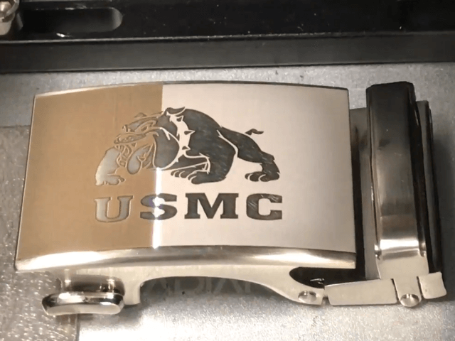 3D metal laser engraving on curve surface with dynamic focusing